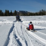 Sledding on the Property